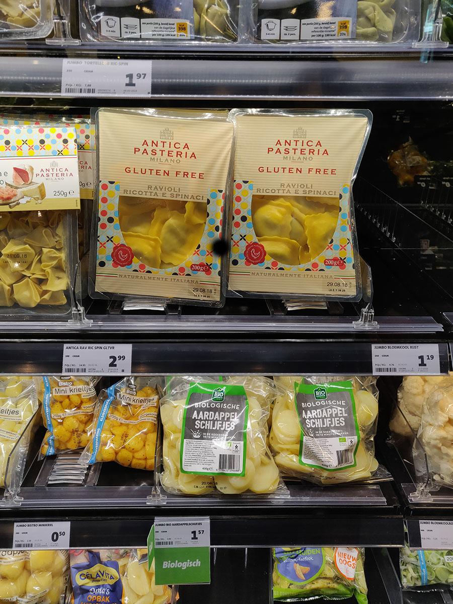 Glutenfrei Ravioli im Supermarkt