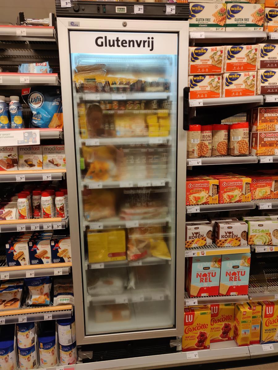 Glutenfreies Kühlregal bei JUMBO