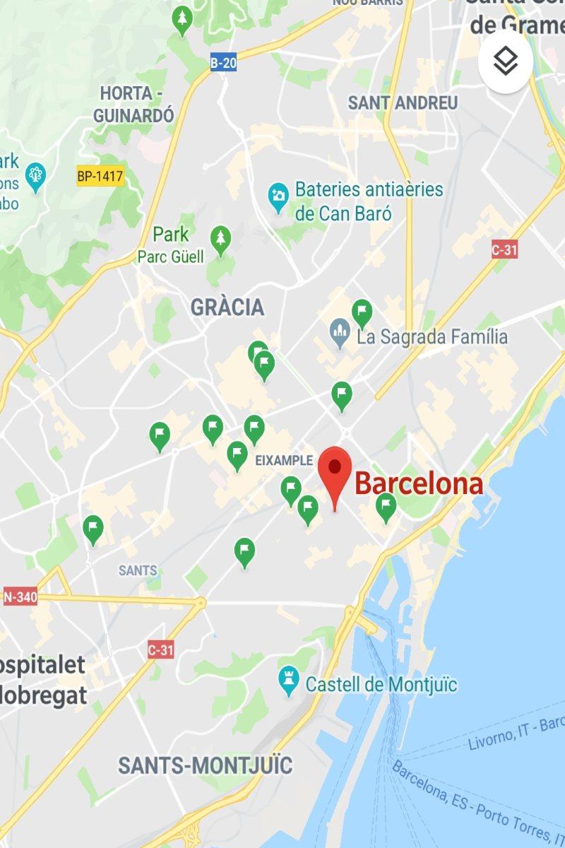 Barcelona Glutenfrei Map