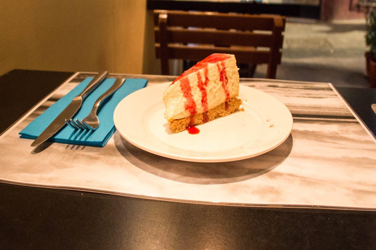 Cheesecake mit Nussboden