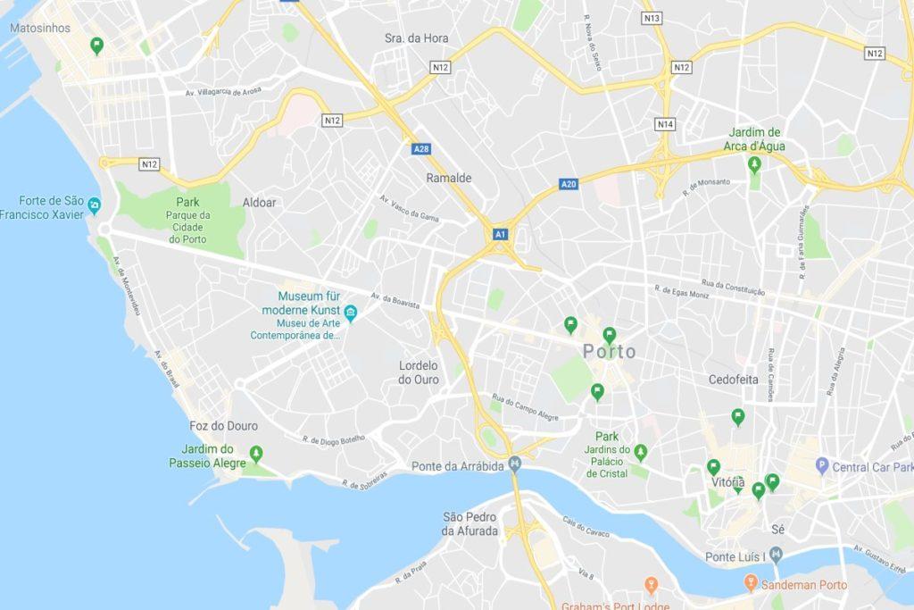 Karte Glutenfrei Porto