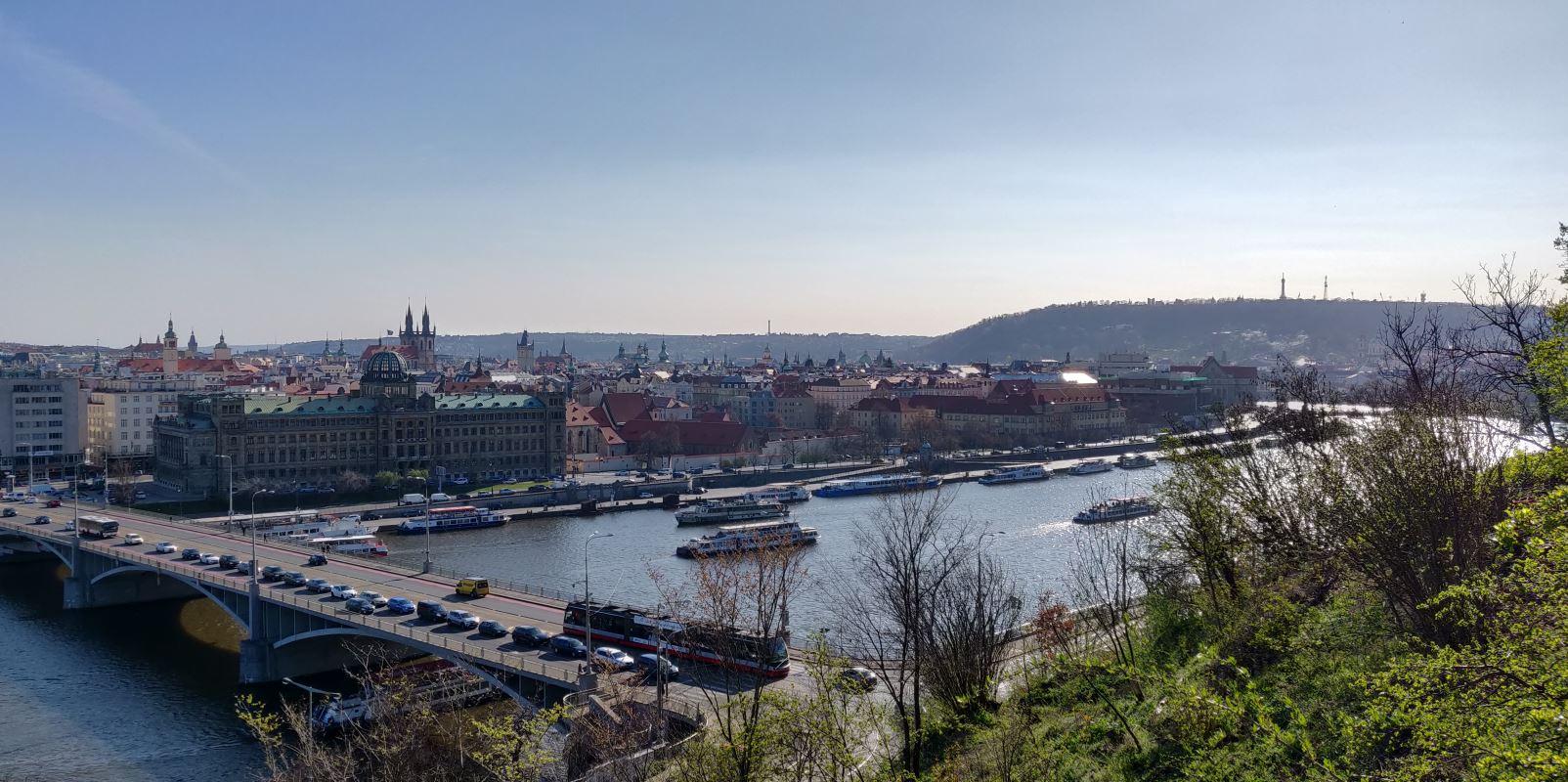 Prag Stadt von oben