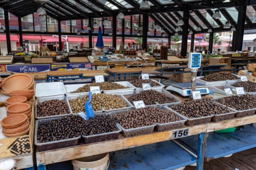 Glutenfrei in Albanien - Wochenmarkt Tirana